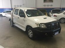 2008 Toyota Hilux KUN26R 08 Upgrade SR (4x4) White 5 Speed Manual Cab Chassis Beckenham Gosnells Area Preview