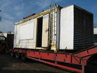 Rolls Royce V12 438 KVA Stamford Generator 1559 Hours Inside 20ft Insulated Shipping Container
