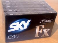 SKY FERRIC FX C90 CASSETTE TAPES TYPE 1 - NORMAL POSITION NEW/SEALED. MANY OTHER MAKES/TYPES GOING.