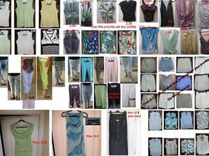 188 vêtements d'été TRÈS PROPRE dont les prix sont de 1$ à 5$