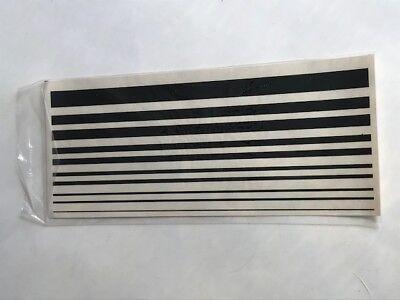 Estes Vintage Flying Model Rocket 60's Black Lines Decal Sheet Orig Package