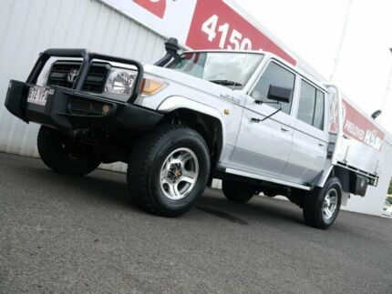 2012 Toyota Landcruiser VDJ79R MY13 Workmate Double Cab Silver 5 Speed Manual Cab Chassis Avoca Bundaberg City Preview