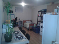 Beautiful basement bachelor apt for rent from July 1st