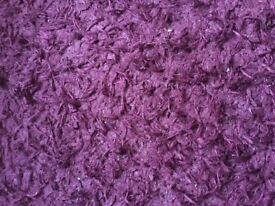 Purple rug with silver sparkly thread