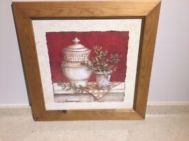 Framed Painting of Vase
