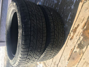 Two P225/55R17 All Season Tires