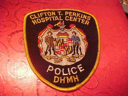 MARYLAND CLIFTON PERKINS HOSPITAL POLICE PATCH SHOULDER SIZE USED