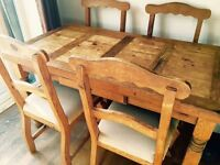 Mexican Pine Table and 4 x chairs