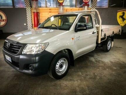 2013 Toyota Hilux TGN16R MY14 Workmate Silver 5 Speed Manual Cab Chassis Fyshwick South Canberra Preview