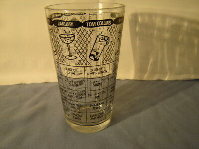 Vintage 1940s 1950s Irvinware Cocktail Shaker Recipe Glass
