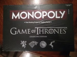 "Jeu Monopoly ""Game of Thrones"" collector's edition - NEUF"
