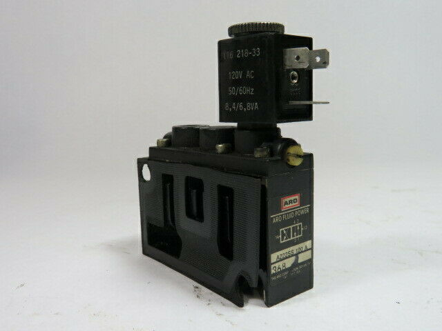 Ingersoll Rand A222SS-120-A, 60-DCV 120-ACV Pneumatic Solenoid Valve  USED