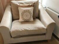 Laura Ashley Cream / Gold Snuggle seat arm chair