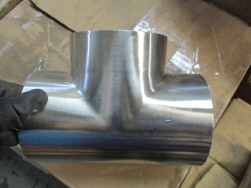 """4"""" BUTTWELD, STAINLESS STEEL TEE TUBE FITTING"""