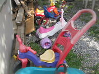 YOUR CHOICE OF TODDLER RIDEING TOYS  5.00 EACH