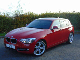 BMW 1 SERIES 1.6 116I SPORT 5d (red) 2014