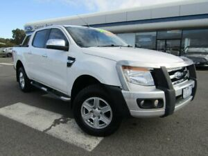2015 Ford Ranger PX XLT Double Cab White 6 Speed Sports Automatic Utility Kilmore Mitchell Area Preview