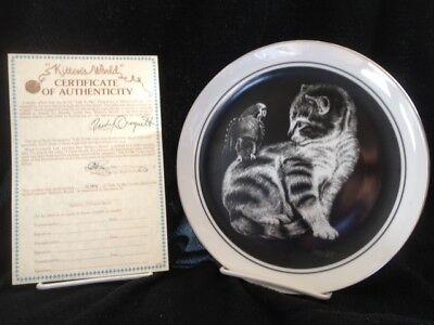 Kitten's World '79 6 Plates Box Certificates Droguett Royal Cornwall Vintage