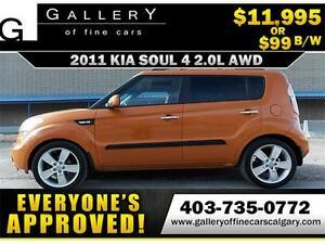 2011 Kia Soul 4u Luxury AWD $99 bi-weekly APPLY NOW DRIVE NOW