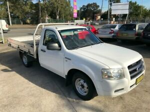 2007 Ford Ranger PJ XL Cab Chassis 2dr Man 5sp 2.5DT White Manual Cab Chassis Bass Hill Bankstown Area Preview