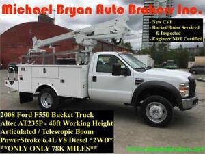 2008 FORD F550 40FT ARTICULATED BUCKET TRUCK *ONLY 127K* RARE
