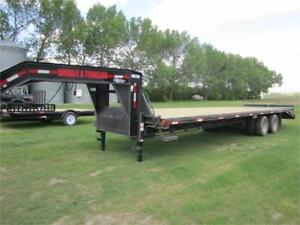 Double A 30 ft gooseneck highboy trailer