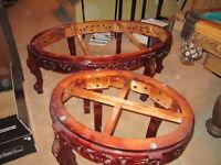 table italienne sculpté à réparer