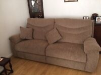 3 PIECE SUITE, 2 CHAIRS, 3 SEATER COUCH.