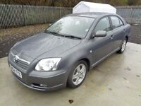 TOYOTA AVENSIS T3-X 1794cc 2004 5 DOOR HATCHBACK GREY 113,000 MILES MOT : 29/11/17 GOOD CONDITION