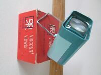 VINTAGE BOXED PATERSON VISCOUNT SLIDE VIEWER FOR ALL 35mm & 4 X 4 cm SLIDES-COLLECT OSSETT.