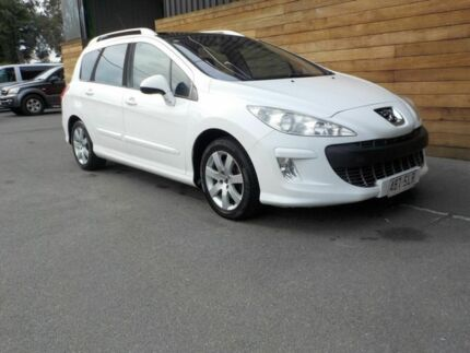 2009 Peugeot 308 T7 XSE Turbo Touring White 4 Speed Sports Automatic Wagon Labrador Gold Coast City Preview