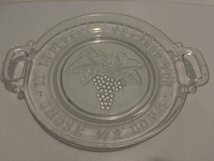 glass grape bread tray with handles Paralowie Salisbury Area Preview