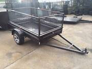 8x5 Heavy Duty Box Trailer 600mm Cage Rego Incl 1Yr ON SITE Taren Point Sutherland Area Preview