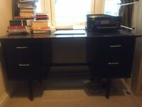 Sturdy black desk - URGENT collection only