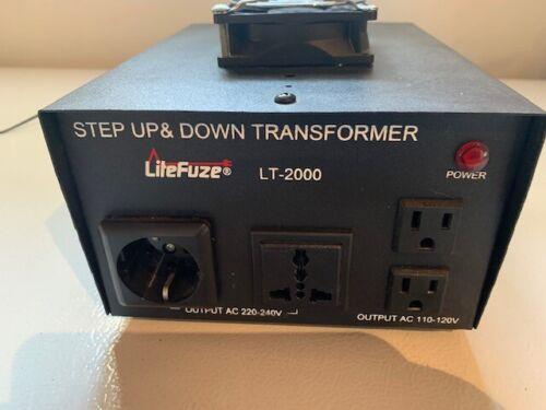 LiteFuze LT Series 2000 Watt Heavy Duty Voltage Converter Transformer