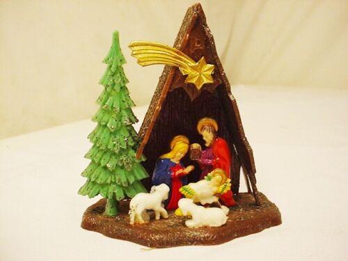 Vtg Nativity Set Plastic Hong Kong 1 Pc Creche Manger Scene Lambs 3.5x3.5 FrShip