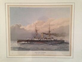 Framed picture HMS Royal Sovereign
