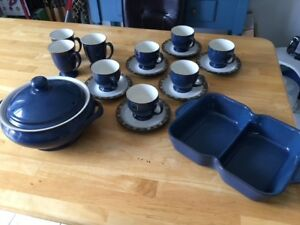 Denby plates, cups and serving dishes!