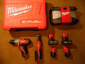 Milwaukee M12 Tools & Batteries (prices in ad)