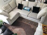 Cream corner sofa - Good condition from pet/smoke free home - £250 ono