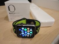 Apple Watch Space Grey 42mm Nike Volt Style Sports Strap