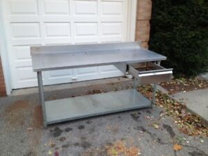 Stainless Steel work table with removable drawer