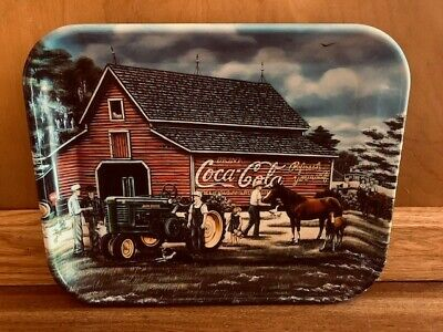 "coca cola/John Deere serving tray Pamela Renfroe  ""what a glorious day"" 2000 USA"
