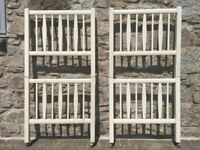 Traditional Off White Painted Wooden Bunk Beds with Sprung Metal Frames.