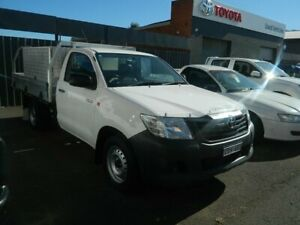 2013 Toyota Hilux TGN16R MY12 Workmate Glacier White 5 Speed Manual Cab Chassis Wellington Wellington Area Preview