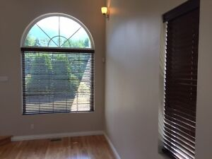 "Solid wood 2"" Hunter Douglas blinds"