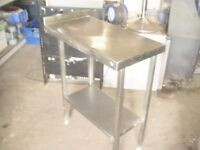 STAINLESS STEEL PREPARATION TABLE/ WORK SURFACE WITH UNDERSHELF