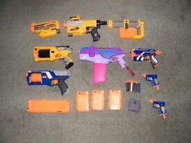 NERF Guns with magazines and darts