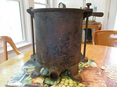 Antique Enterprise 8 Qt Sausage Stuffer Lard Press Part Base W Both Bolts