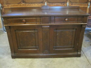 Solid Walnut Sideboard / TV stand over 100 years old